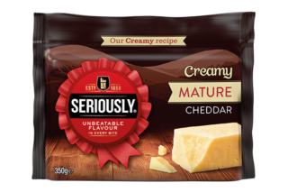 seriously creamy mature cheddar 350