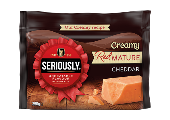 seriously creamy red mature cheddar 350