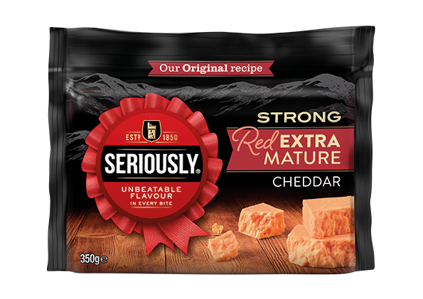 seriously strong red extra mature cheddar 350